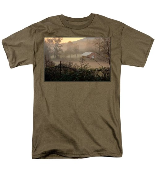 Misty Morn And Horse Men's T-Shirt  (Regular Fit) by Kathy Barney