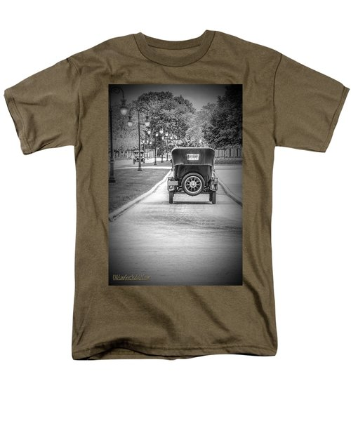 Model T Ford Down The Road Men's T-Shirt  (Regular Fit) by LeeAnn McLaneGoetz McLaneGoetzStudioLLCcom