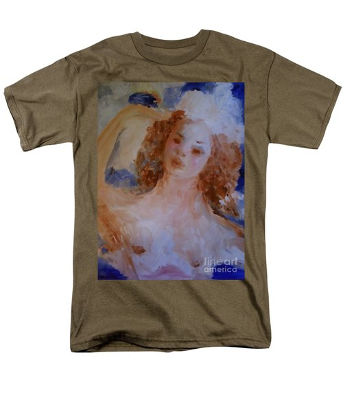 Men's T-Shirt  (Regular Fit) featuring the painting Mom Near Jupiter by Laurie L