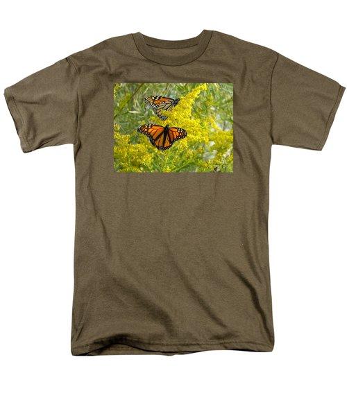 Monarchs On Goldenrod Men's T-Shirt  (Regular Fit) by Susan  Dimitrakopoulos