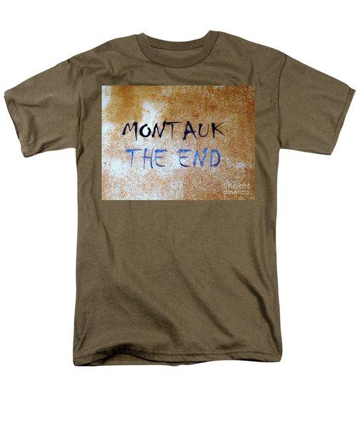 Montauk-the End Men's T-Shirt  (Regular Fit) by Ed Weidman