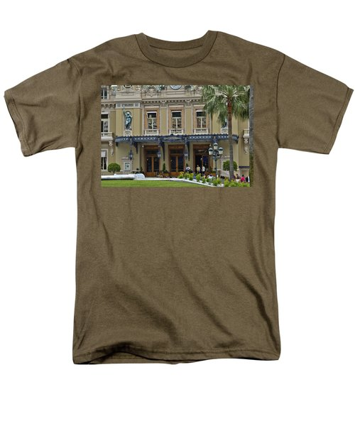Men's T-Shirt  (Regular Fit) featuring the photograph Monte Carlo Casino by Allen Sheffield