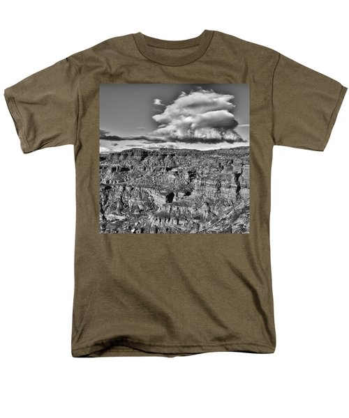 Men's T-Shirt  (Regular Fit) featuring the photograph Monument Valley 5 Bw by Ron White