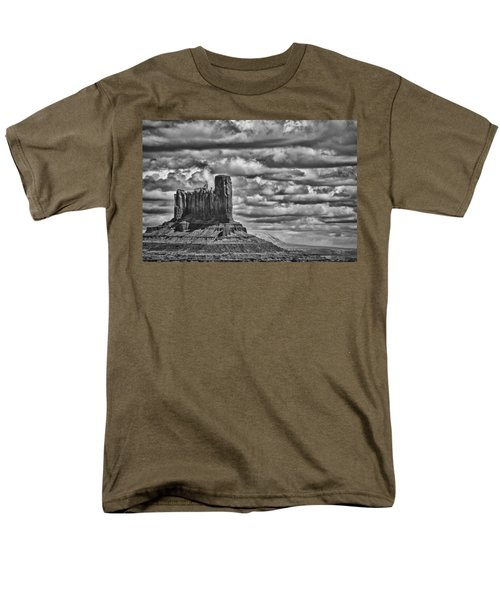 Men's T-Shirt  (Regular Fit) featuring the photograph Monument Valley 6 Bw by Ron White