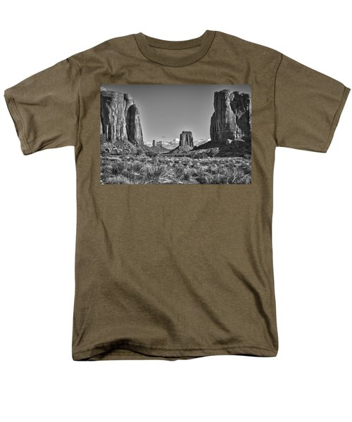 Men's T-Shirt  (Regular Fit) featuring the photograph Monument Valley 8 Bw by Ron White