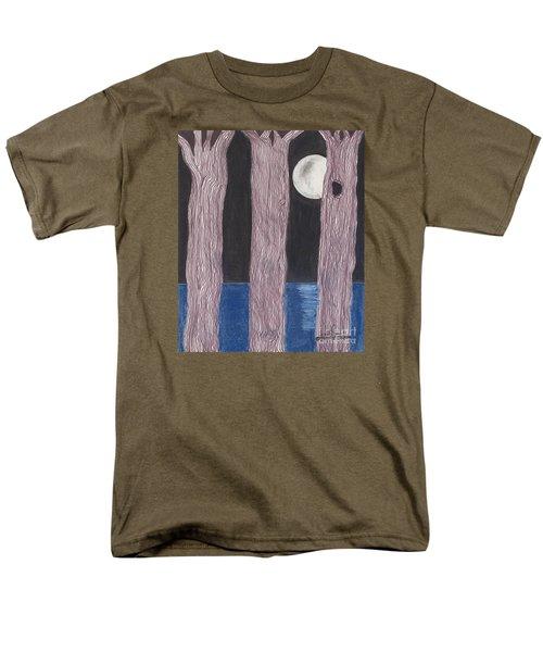 Men's T-Shirt  (Regular Fit) featuring the mixed media Moon Light by David Jackson
