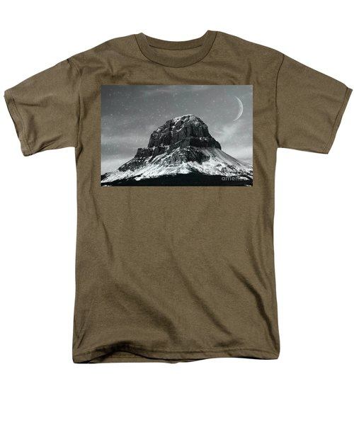 Moon Over Crowsnest Men's T-Shirt  (Regular Fit) by Alyce Taylor