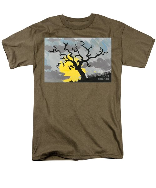 Men's T-Shirt  (Regular Fit) featuring the painting Moon Tree by Marisela Mungia