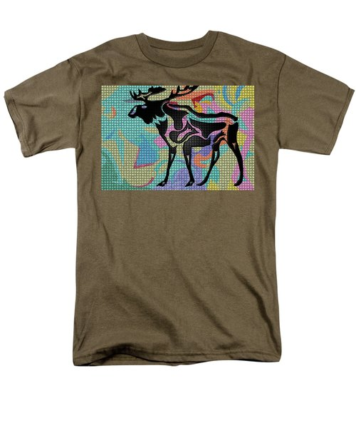 Moose Tracks Men's T-Shirt  (Regular Fit) by Robert Margetts