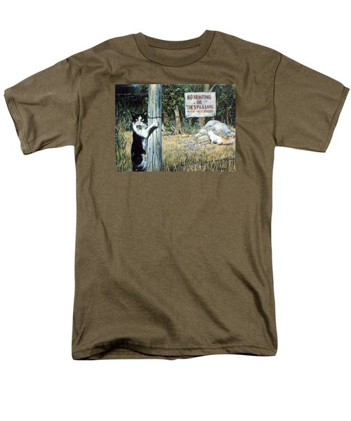 Men's T-Shirt  (Regular Fit) featuring the painting More Civil Disobedience by Donna Tucker