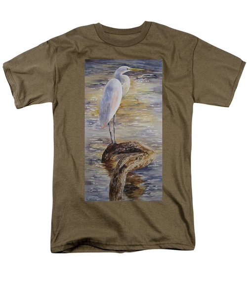 Morning Perch-egret Men's T-Shirt  (Regular Fit)