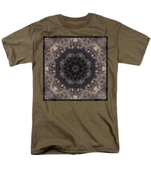 Mosaic Tile / Gray Tones Men's T-Shirt  (Regular Fit) by Elizabeth McTaggart