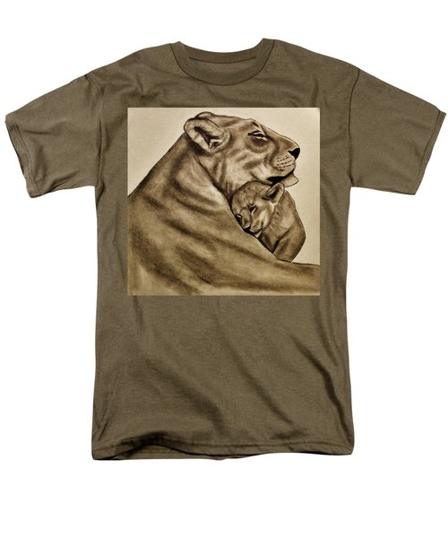 Men's T-Shirt  (Regular Fit) featuring the drawing Mother And Son by Michael Cross