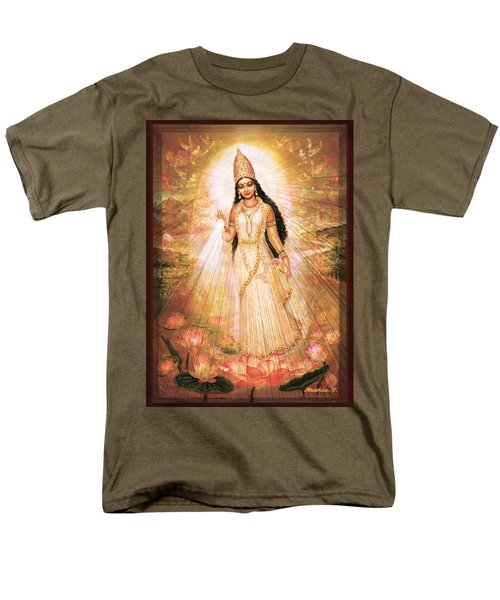 Men's T-Shirt  (Regular Fit) featuring the mixed media Mother Goddess With Angels by Ananda Vdovic