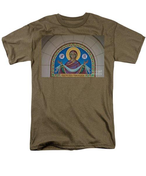 Mother Of God Mosaic Men's T-Shirt  (Regular Fit) by William Norton