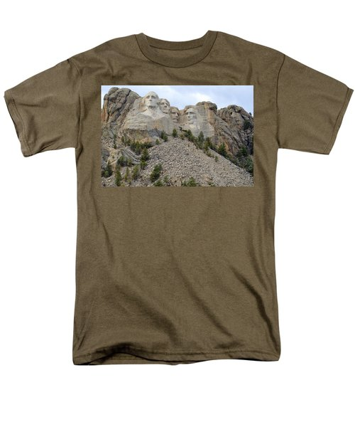 Men's T-Shirt  (Regular Fit) featuring the photograph Mount Rushmore In South Dakota by Clarice  Lakota