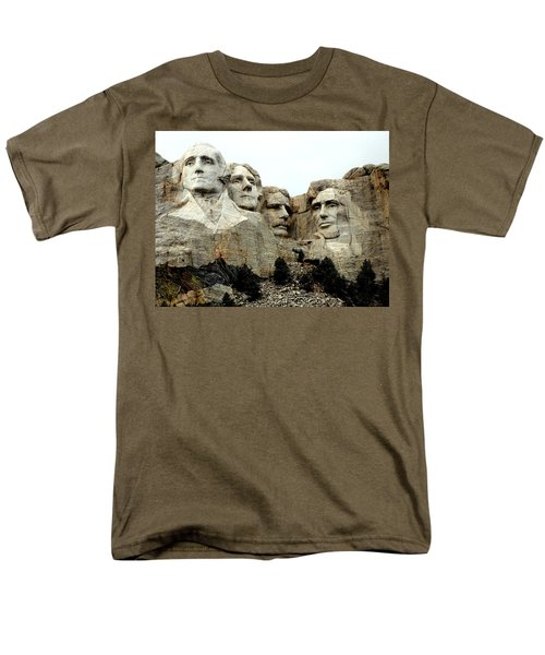 Men's T-Shirt  (Regular Fit) featuring the photograph Mount Rushmore Presidents by Clarice  Lakota