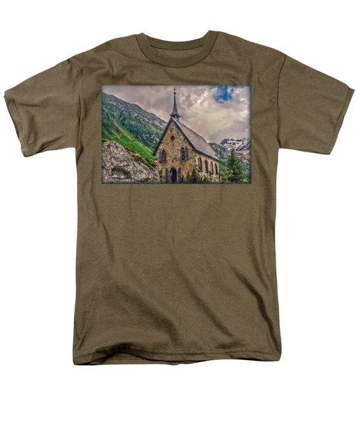 Men's T-Shirt  (Regular Fit) featuring the photograph Mountain Chapel by Hanny Heim