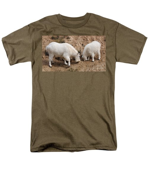Men's T-Shirt  (Regular Fit) featuring the photograph Mountain Goats At The Salt Lick by Vivian Christopher