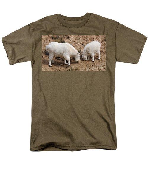 Mountain Goats At The Salt Lick Men's T-Shirt  (Regular Fit) by Vivian Christopher