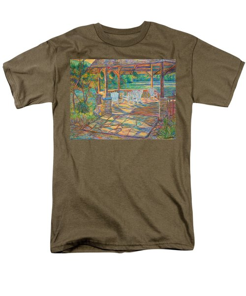 Mountain Lake Shadows Men's T-Shirt  (Regular Fit) by Kendall Kessler