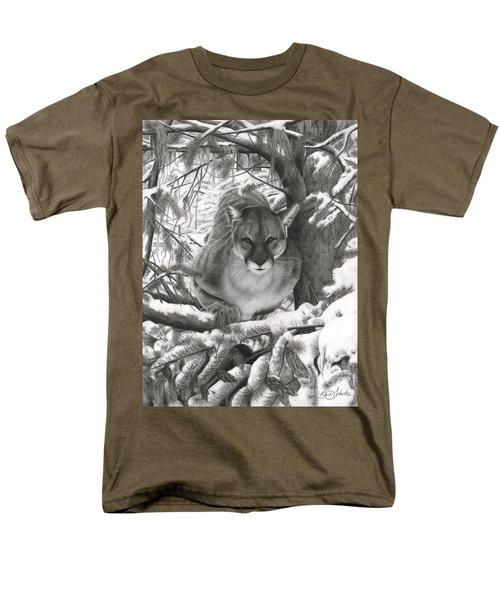 Mountain Lion Hideout Men's T-Shirt  (Regular Fit)
