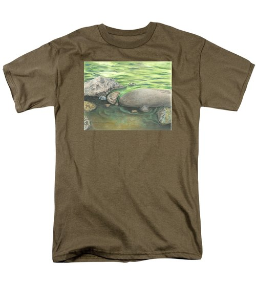 Mountain Stream Men's T-Shirt  (Regular Fit) by Troy Levesque