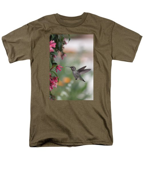 Men's T-Shirt  (Regular Fit) featuring the photograph Mrs. Little Anna's Hummingbird by Amy Gallagher