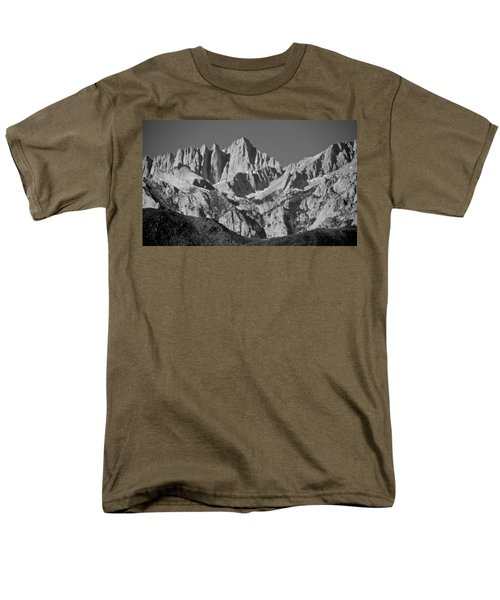 Mt. Whitney In Black And White Men's T-Shirt  (Regular Fit) by Eric Tressler