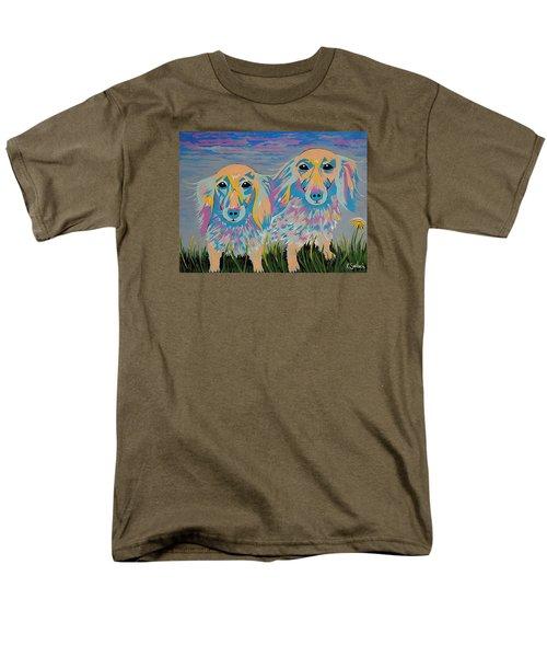 Men's T-Shirt  (Regular Fit) featuring the painting Mugi And Tatami by Kathleen Sartoris