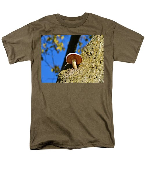 Men's T-Shirt  (Regular Fit) featuring the photograph Mushroom In A Tree by Ally  White