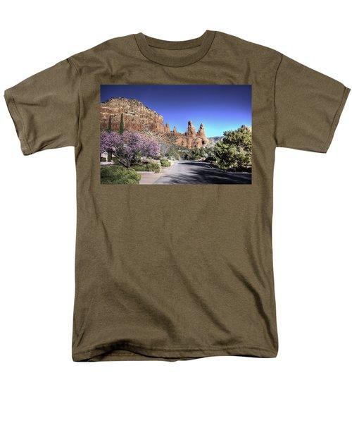 Mushroom Rock Men's T-Shirt  (Regular Fit) by Lynn Geoffroy