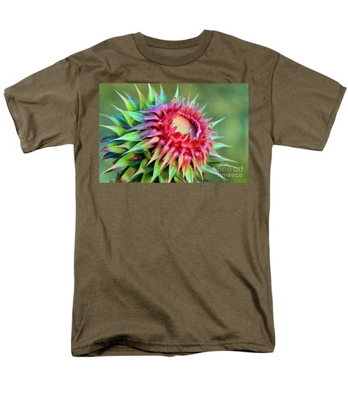 Musk Thistle Men's T-Shirt  (Regular Fit) by Teresa Zieba