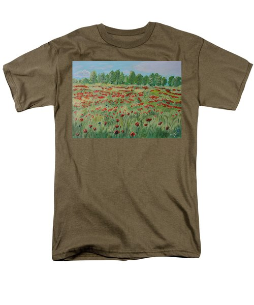 My Poppies Field Men's T-Shirt  (Regular Fit) by Felicia Tica
