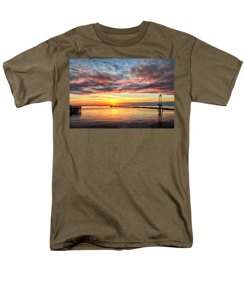 My Return To Cape Charles Virginia Men's T-Shirt  (Regular Fit) by Michael Pickett