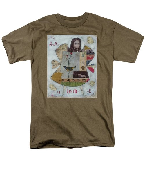Men's T-Shirt  (Regular Fit) featuring the painting My Song Is Inside Me by Casey Rasmussen White