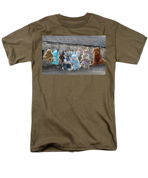 Toys On Washing Line Men's T-Shirt  (Regular Fit) by Nina Ficur Feenan