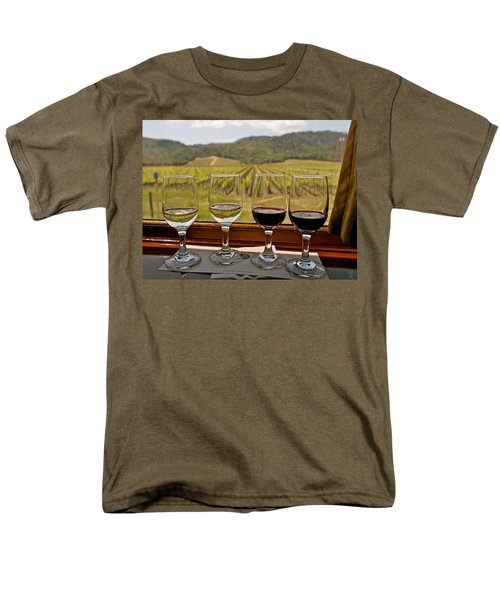 Napa Valley Wine Train Delights Men's T-Shirt  (Regular Fit) by Michele Myers