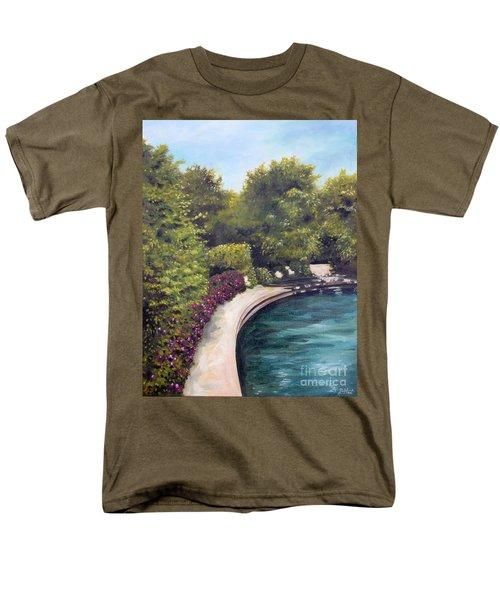 Men's T-Shirt  (Regular Fit) featuring the painting Naperville Riverwalk II by Debbie Hart