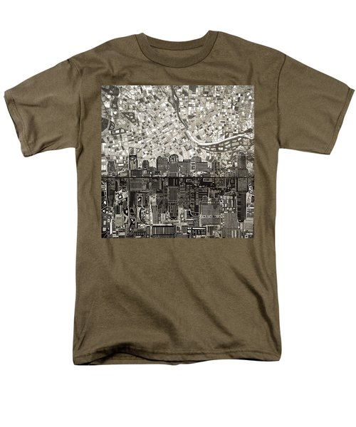 Nashville Skyline Abstract 5 Men's T-Shirt  (Regular Fit)