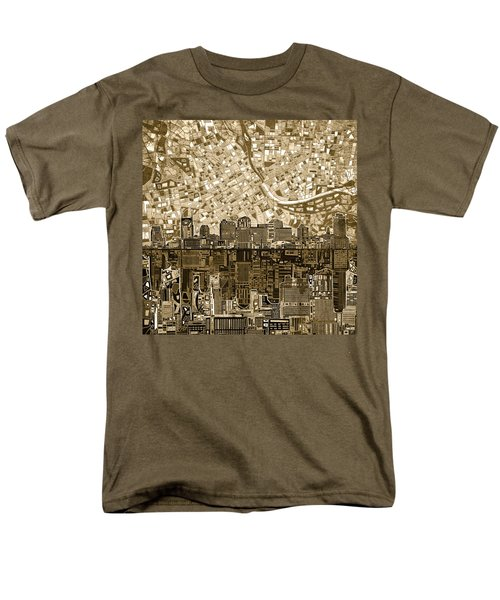 Nashville Skyline Abstract 6 Men's T-Shirt  (Regular Fit)