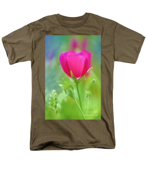 Men's T-Shirt  (Regular Fit) featuring the photograph Natures Winecup South Texas by Dave Welling