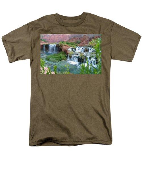 Men's T-Shirt  (Regular Fit) featuring the photograph Navajo Falls by Alan Socolik