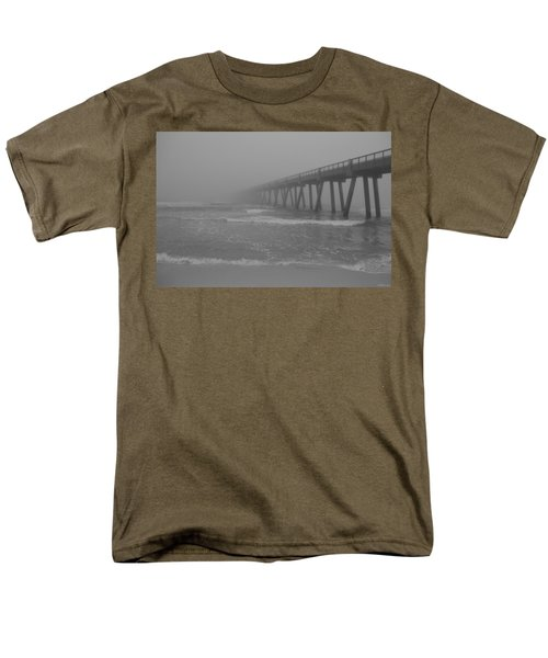 Navarre Pier Disappears In The Bw Fog Men's T-Shirt  (Regular Fit) by Jeff at JSJ Photography