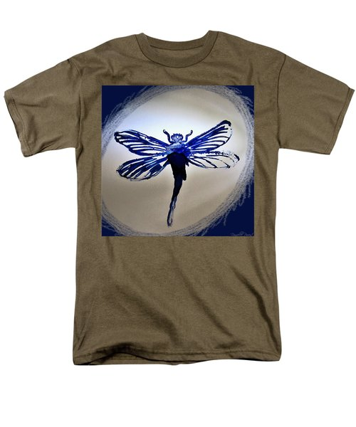 Navy Dragonfly Alcohol Inks  Men's T-Shirt  (Regular Fit) by Danielle  Parent
