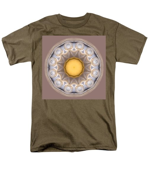 Men's T-Shirt  (Regular Fit) featuring the photograph Neutral Kaleidoscope Square by Betty Denise