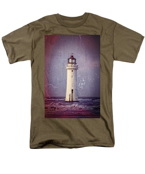 New Brighton Lighthouse Men's T-Shirt  (Regular Fit) by Spikey Mouse Photography