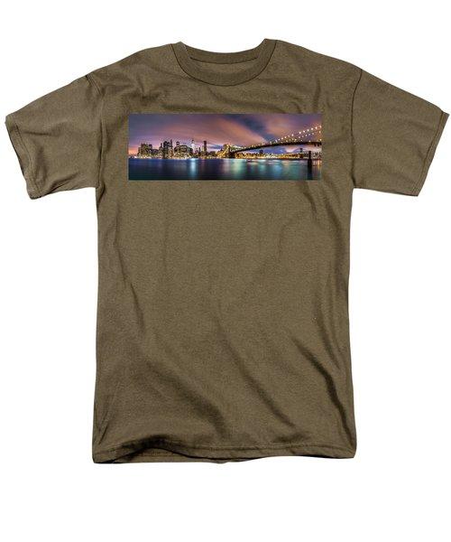 New Dawn Over New York Men's T-Shirt  (Regular Fit) by Mihai Andritoiu