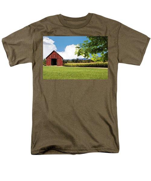 New Hampshire Barnyard Men's T-Shirt  (Regular Fit) by Fred Larson