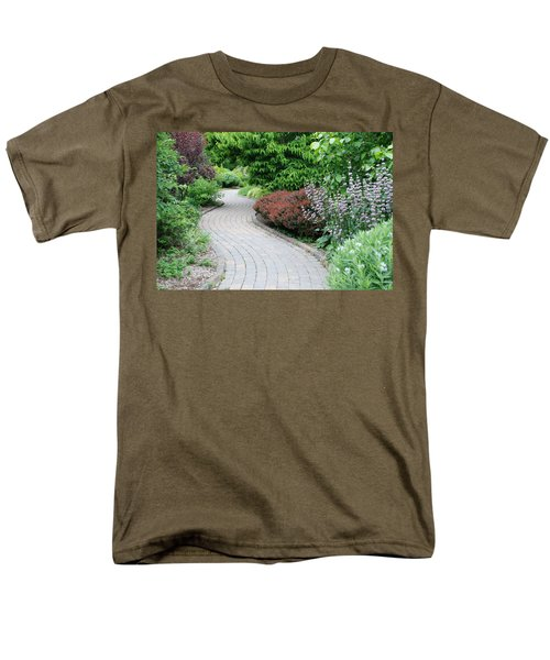 Men's T-Shirt  (Regular Fit) featuring the photograph Frelinghuysen Arboretum Path by Richard Bryce and Family